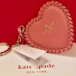 Kate spade NWT fob valentines heart key chain